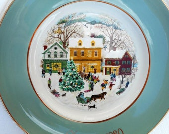 1980 Avon Christmas Plate Country Christmas