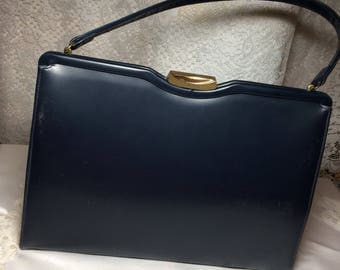 Nice Navy Blue Handbag by Theador