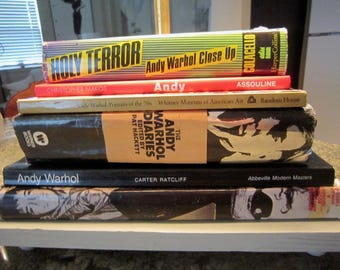 ANDY WARHOL Lamp Stacked Books Limited Editions New Hardware Wrapped Cord POP!