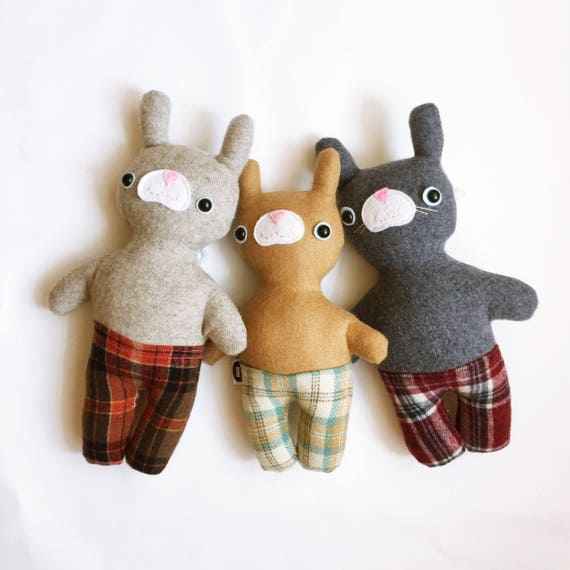 Mister Bunnypants in Oatmeal Wool - READY TO SHIP