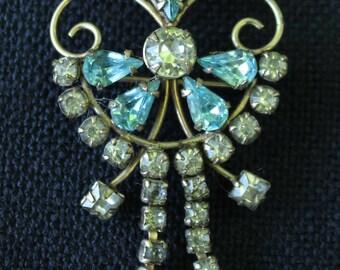 Gold Filled Rhinestone Pin