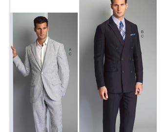 Pick A Size - Vogue Men's Suit Pattern V8988 - Men's Single or Double-Breasted Suit Jacket and Pants - Vogue Men Pattern
