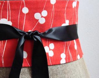 BELT OBI Japanese style red and black