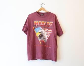 Vintage Harley Davidson Eagle T Shirt