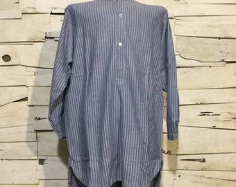 Vintage German Fisherman Striped Shirt/ Harbour Top (os-ht-3)