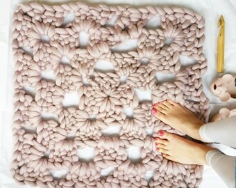 Super Chunky Crochet Kit DIY Giant Granny Square