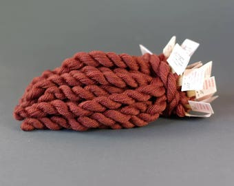 Hand-dyed embroidery yarn,  natural dyes, merino thread, embroidery floss, 20m, dyed with SORREL, FILIPENDULA and COCHINEAL, brown, 285