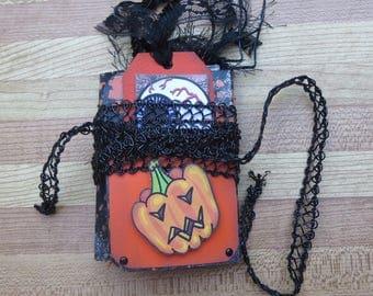 Halloween Mini Junk Journal/Diary/Notebook/Scrapbook/Sketchbook/Handmade/Gratitude/Dream/Planner/Writers journal Gift
