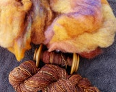 Rust Never Sleeps - Biota spinners web, 4 oz. - wool and silk blend for hand spinning, felting, wool crafts