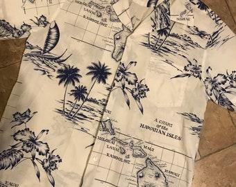 Men's vintage Hawaian Shirt Rai Nani sz M/L