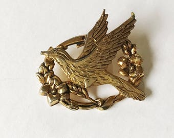 Sweet Vintage Bird Brooch