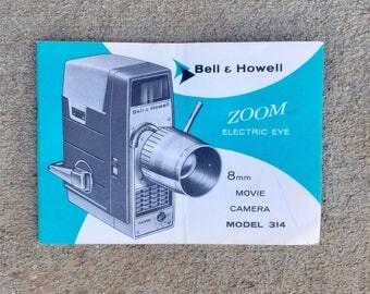 Vintage Bell Howell 8mm Movie Camera Manual