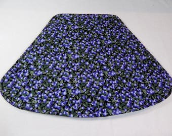 Blueberry Placemats, Wedge Placemats, Small Table Mats, Set of four