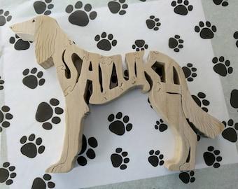 Saluki Handmade Fretwork Wood Jigsaw Puzzle