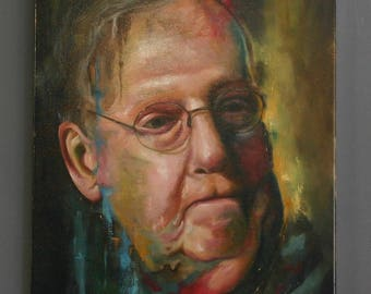 """Resistance Political Art Original 16"""" x 20"""" Oil on Canvas Painting of Mitch McConnell - #Resist"""