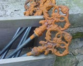 """Reserve Listing for Holly - Eight""""Key"""" Cast Iron Hose Guides"""