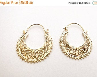 Black Friday SALE Filigree Earrings, Gold Plated Earrings, Gypsy Earrings, Dangle Earrings, Dainty Earrings, Chandelier Earrings, Dangle & D