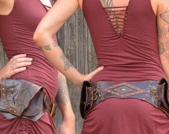 Leather Hip Belt | Handmade Designer Pocket Belt | Utility belt | Pixie | Bohemian | Hippie | Urban Gypsy | Burning Man | Festival Fashion |