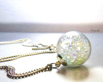 Necklace - Bubbles in Rainbow Colors