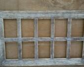 8 hole 5x7 Barn Wood Frame in Portrait format
