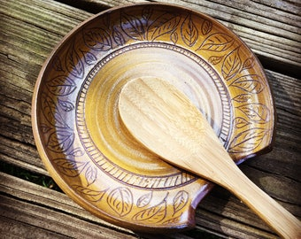 Handmade Pottery Spoon Rest