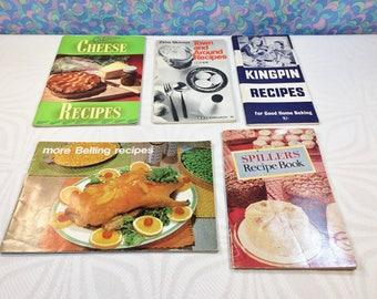 Vintage Retro 1960s Recipe Books & Pamphlets x 5 Kitchen Cooking Baking Leaflets Food Advertising