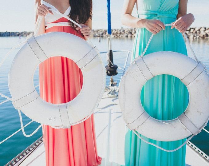 Coralie Beatrix Two Toned Infinity Wrap Dress- Custom Choose from over 50 Fabrics. Bespoke Wrap Dress, Wedding Guest, Prom, Maternity