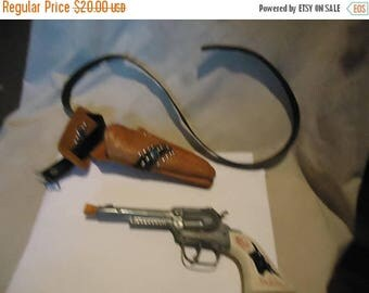 Back Open Sale Vintage Gabriel Toy Cap Pistol Gun With Holster, collectable