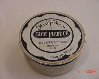Vintage Misty Morn Face Powder 2 3/4 Oz. Unopened In Original Box  17 - 991