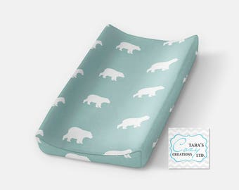 Bear Minky Change Pad Cover- Minky Cover- Woodland Bedding- Bear Nursery- Deer Change Pad Cover- Hunting Minky Cover- Ships out in 1-3 days