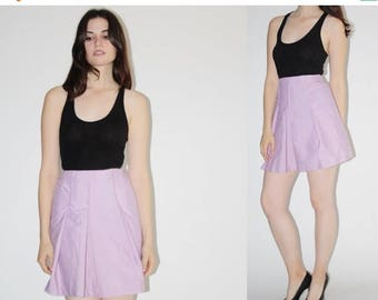 On SALE 45% Off - D - 1960s Skirt  - Vintage 60s Lavender  Skirt - The Tennis Lessons Shorts  -7047