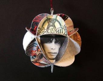 Aerosmith Album Cover Ornament Made Of Record Jackets - Steven Tyler
