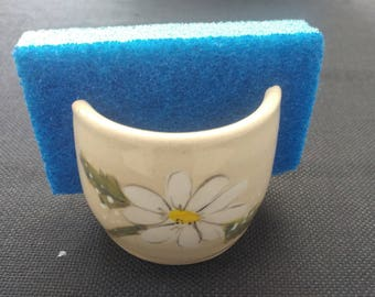 White Daisy Sponge Holder