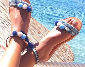 Happy sandals,Greek sandals, leather sandals,hand made sandals,