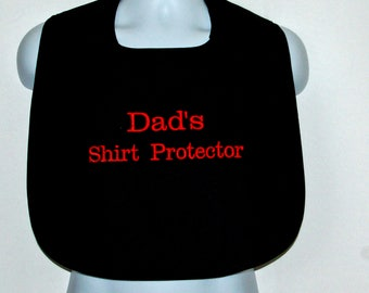 Adult Bib, Gag Gift For Dad, Grandpa, Shirt Makeup Protector, Clothing Cover Up, Custom Personalize, With First Name,  Ships TODAY AGFT 1062