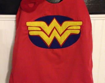 Wonder Woman cape, Wonder Woman, Superhero cape, birthday gift for kids, superhero, party favors, superhero party
