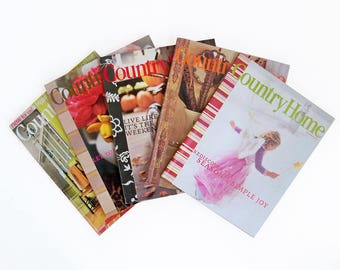 Bundle of Country Home Magazine 2004 Back Issues - 5 Issues with Decorating & Cooking Ideas