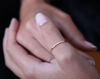 Skinny Thumb Ring - Thumb Ring - Skinny Ring - Stacking Ring - Gold Thumb Ring - Silver Thumb Ring