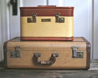 Vintage suitcase Antique suitcase