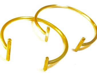 Handmade Brass Double Bar Cuff Bracelet