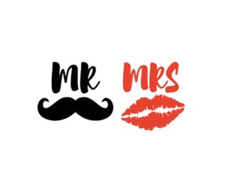Mr and Mrs Vinyl Decal Sticker