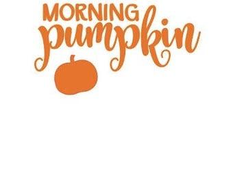 Morning Pumpkin Vinyl Decal Sticker