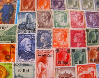 Oesling Or Gutland 50 Premium Vintage Grand Duchy of Luxemburg Postage Stamps Luxembourgis EU Europe Groussherzogtum Letzebuerg Luxembourg
