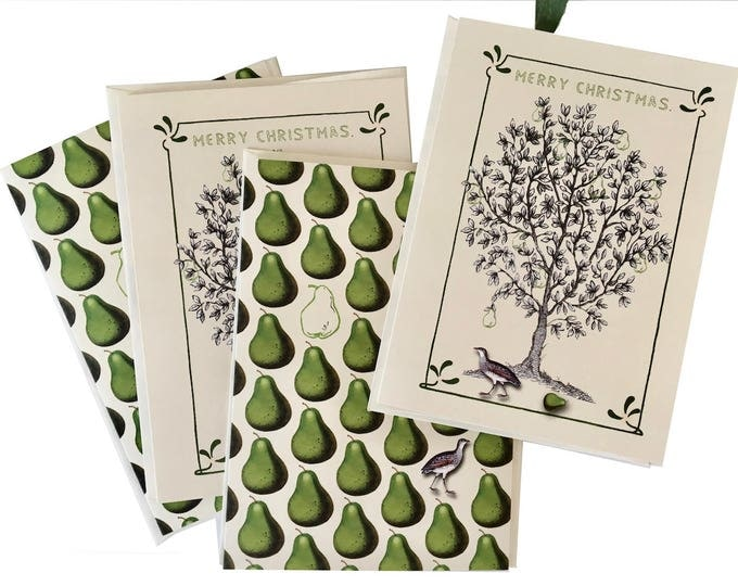 Christmas no longer available! Don't miss the Spring Collection coming soon! Partridge in a Pear Tree Christmas Card Set