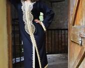 10% OFF Summer SALE // Autumn Winter Black Moroccan Caftan Kaftan -Lella  Style -Luxury loungewear, traditional abayas, resortwear, Birthday