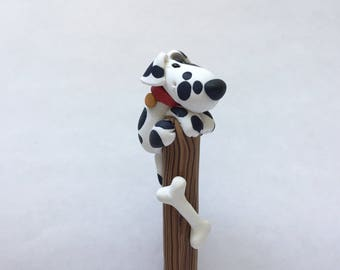 Dalmation Doggy on a Stick Ballpoint Pen