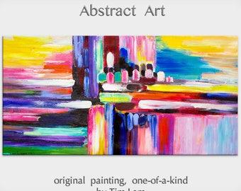 "sale Art, Painting, Oil, Original art, Texture wall Art, abstract painting, oil painting, canvas art, Home Decor painting, by Tim Lam 48"" x"