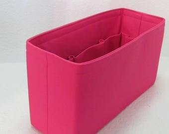 Ready to Ship .. Delightful MM (New Version 12.5x4.5x7). ....Purse Insert ORGANIZER Purse Shaper ...Hot Pink..(25C)