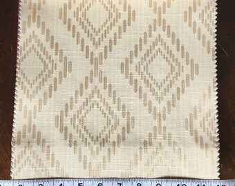 Custom Curtains Valance Roman Shade Shower Curtains in Champagne Diamond Pattern Fabric