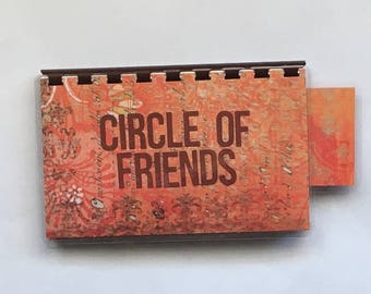 Handmade Chocolate 'Circle of Friends' Blank Recipe book for Your Personal Recipes